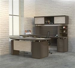 Mayline Stl37h2 Sterling Ergonomic Executive Desk With Height