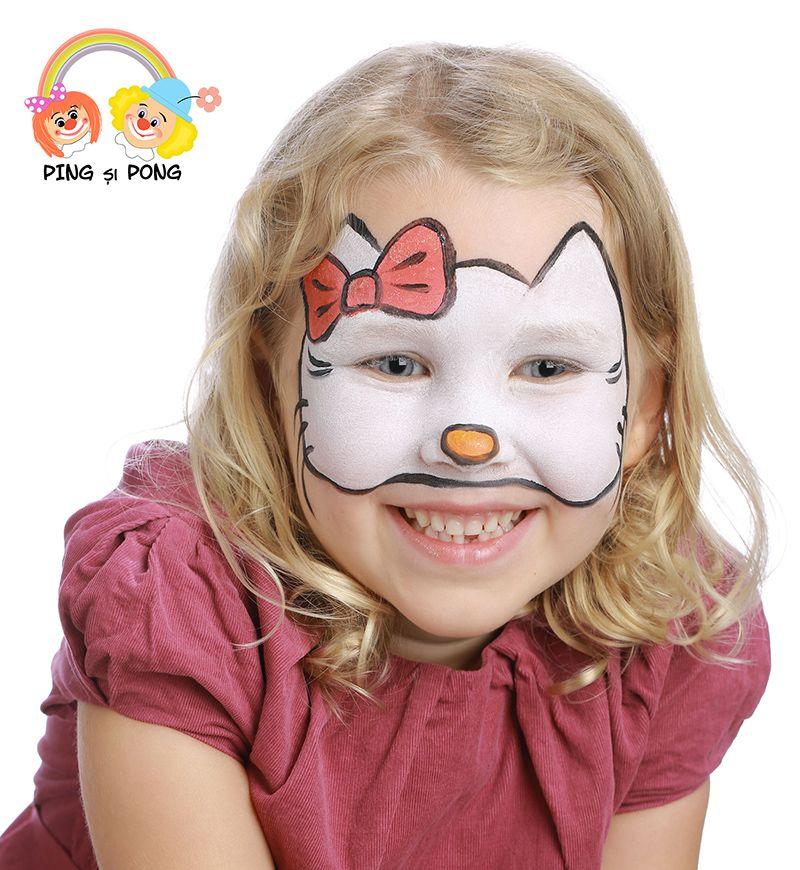 Model Pictura Pe Fata Pentru Copii Hello Kitty Face Painting