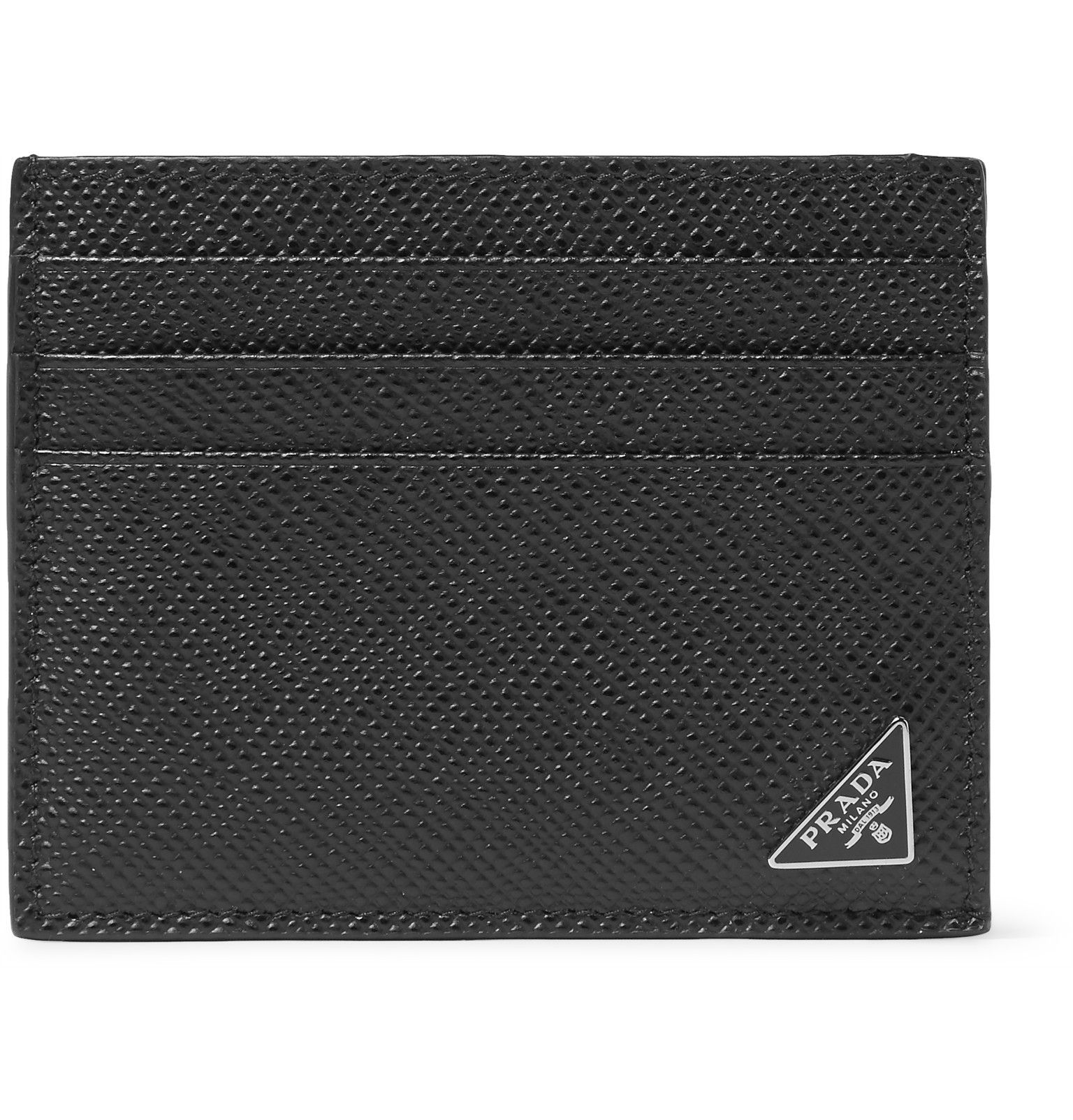 e65945506d08 Crafted from Saffiano leather, Prada's cardholder is the smartest way to  keep your cards and bills in order. It's detailed with the brand's  enamelled ...