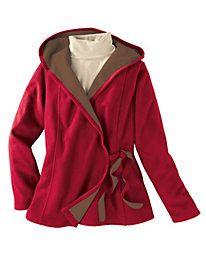 Women's Fleece Wrap Hoodie Jacket