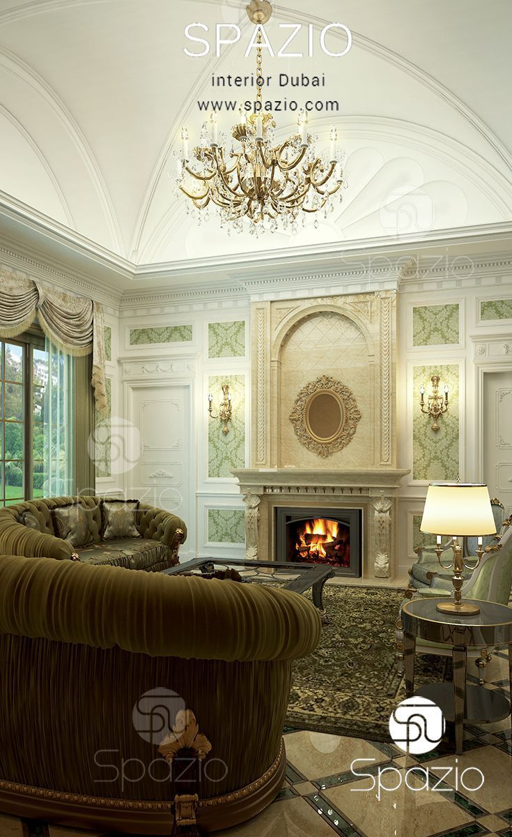 A luxury Arabic majlis interior design in Dubai. An interior design ...