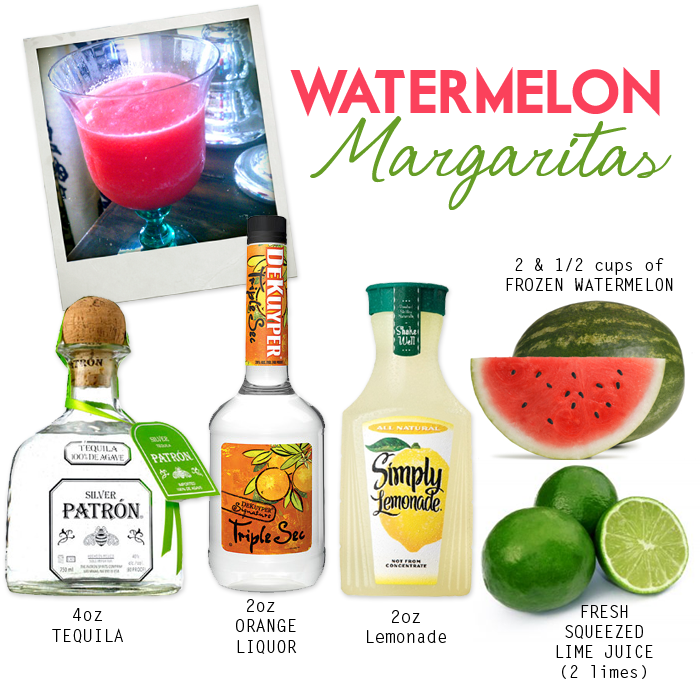 Watermelon margaritas yum