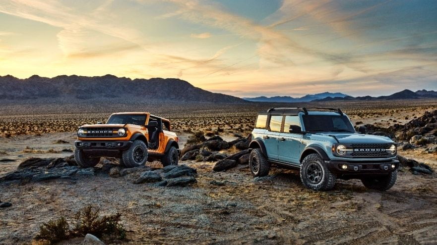 All New 2021 Bronco Two Door And First Ever Four Door Models Built Wild Suvs With Thrilling 4x4 Capability Ready For Fun Ford In 2020 Ford Bronco Bronco New Bronco