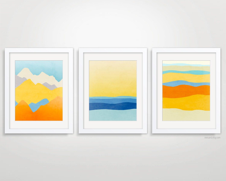 Minimalist art prints abstract landscape art modern art for Minimalist wall art ideas