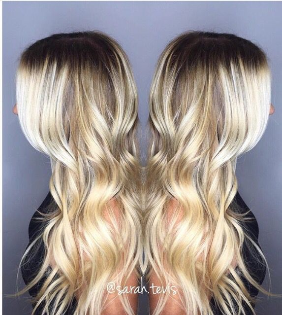 Blonde highlights and beach waves.