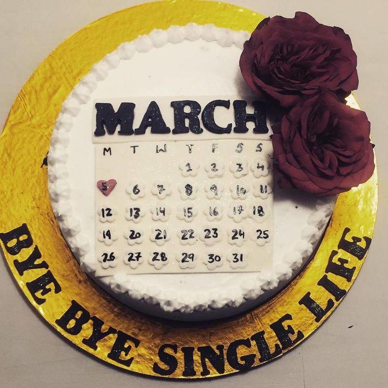 Wedding Day Countdown Cake Bye Bye Single Life Desserts Wedding Countdown Cake