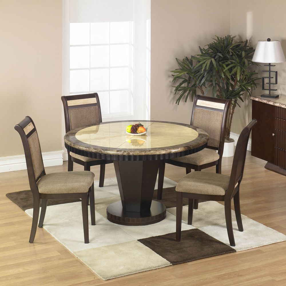 Corallo Marble Top 5 Piece Dining Table Set   Overstock™ Shopping   Big  Discounts On Dining Sets