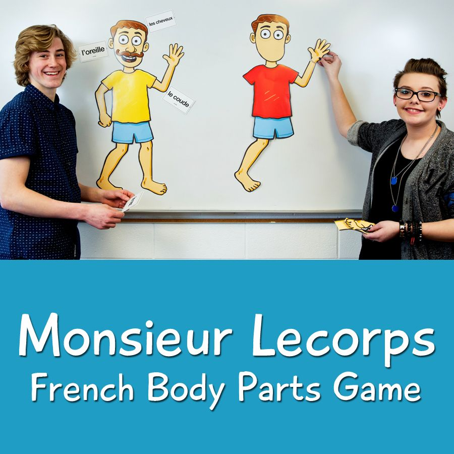 Monsieur Lecorps French Body Parts Game | Blank labels, Worksheets ...