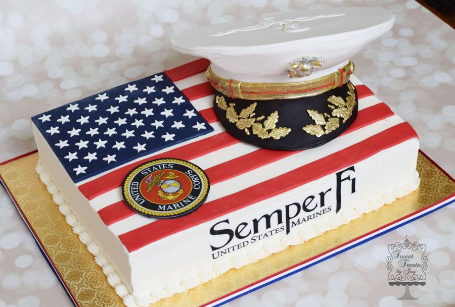 Marine Corp Salute With Images Marine Cake Military Cake