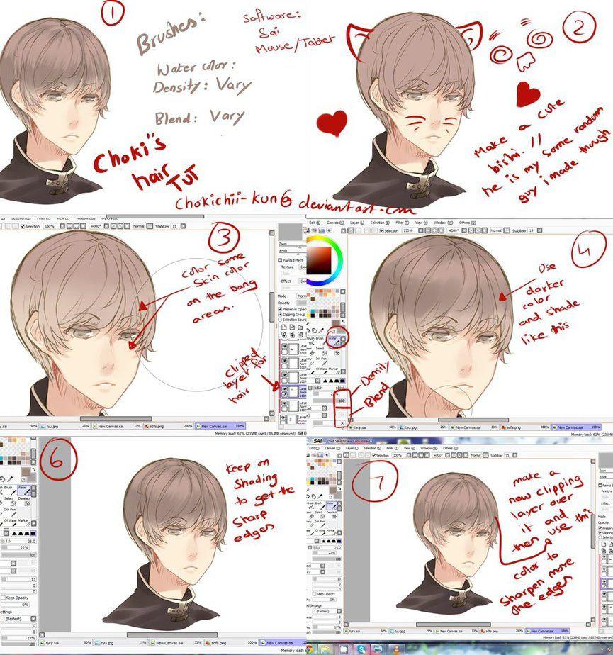 Anime Hair Tutorial By Mano K Deviantart Com On Deviantart Anime Hair Anime Anime Art Beautiful
