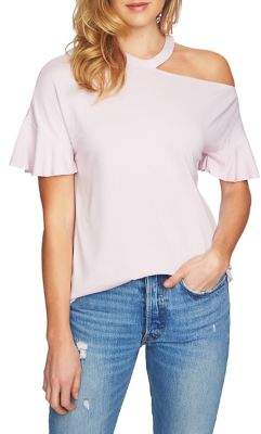 56133902e92 1 STATE 1.STATE Asymmetrical Cutout Ruffle-Sleeve Top | Products ...
