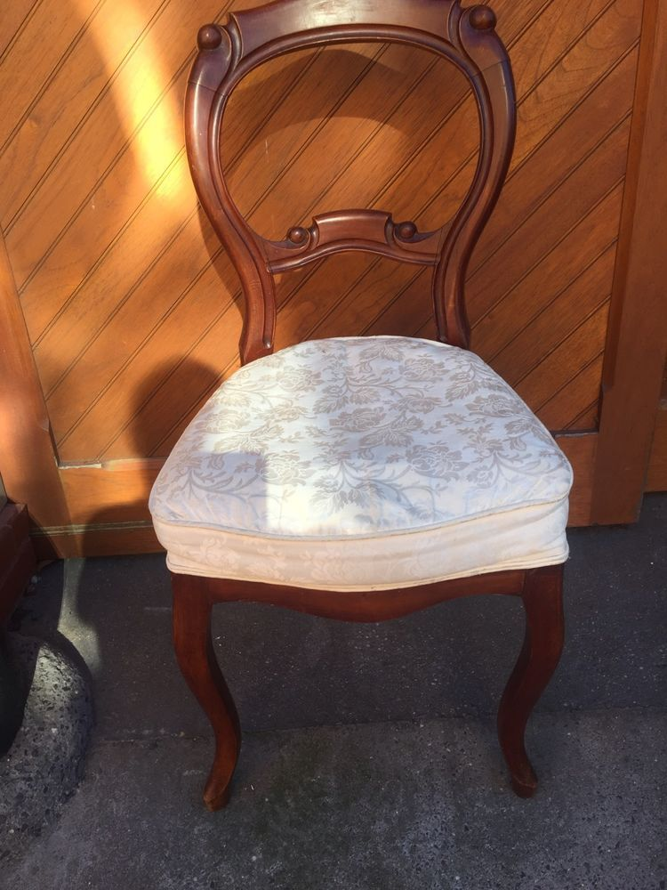 Antique Victorian Balloon Back Parlor Chair Stain | eBay - Antique Victorian Balloon Back Parlor Chair Stain EBay Victorian