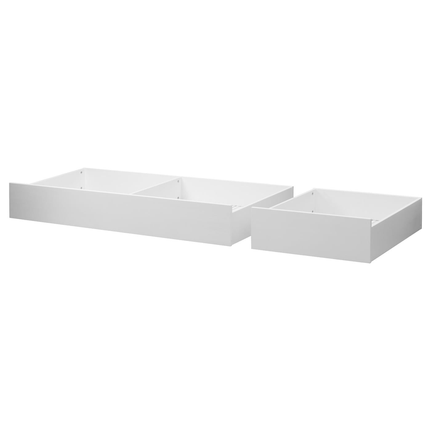 Hemnes Underbed Storage Box Set Of 2 White Stain White Stained
