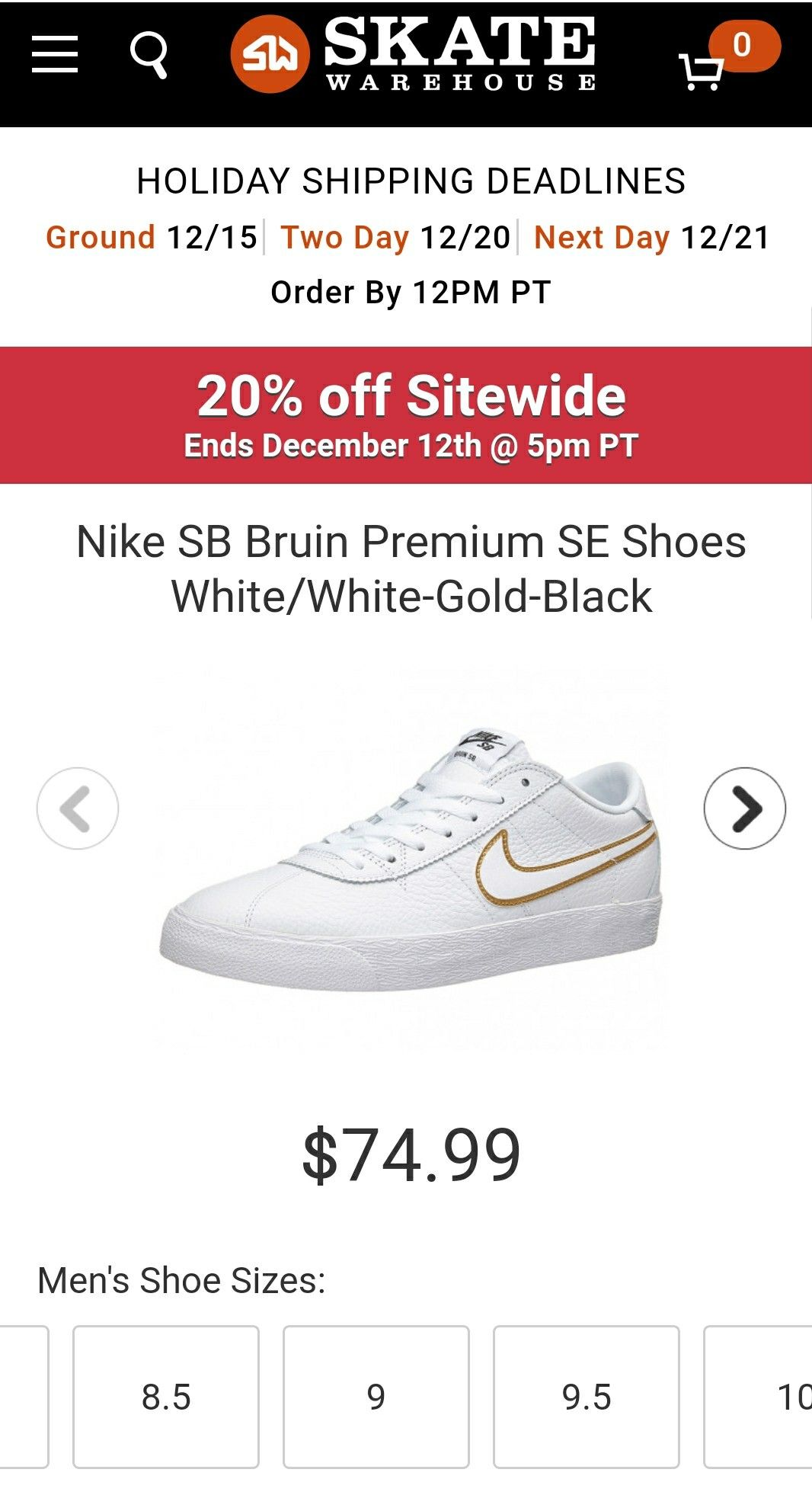 perfume Caña lapso  Skatewarehouse.com Nike sb bruin premium white/gold | Men shoes size, Nike  sb, Shoes mens
