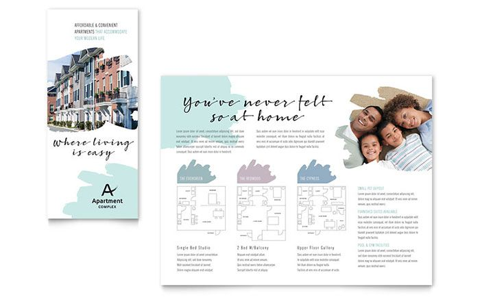Apartment Brochure Template Design By Stocklayouts  W O R K