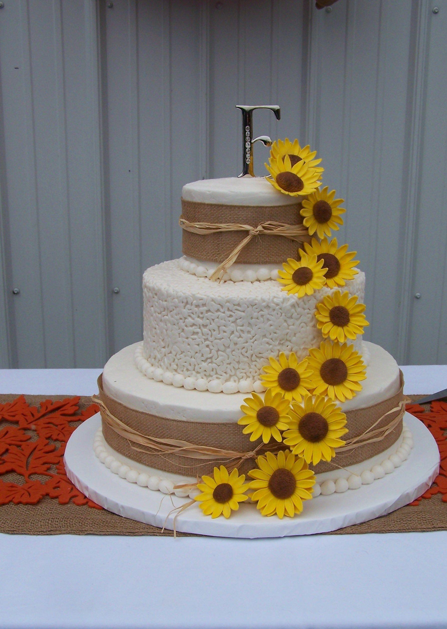 rustic sunflowers wedding cake wedding cakes by sherry pinterest rustic sunflower weddings. Black Bedroom Furniture Sets. Home Design Ideas