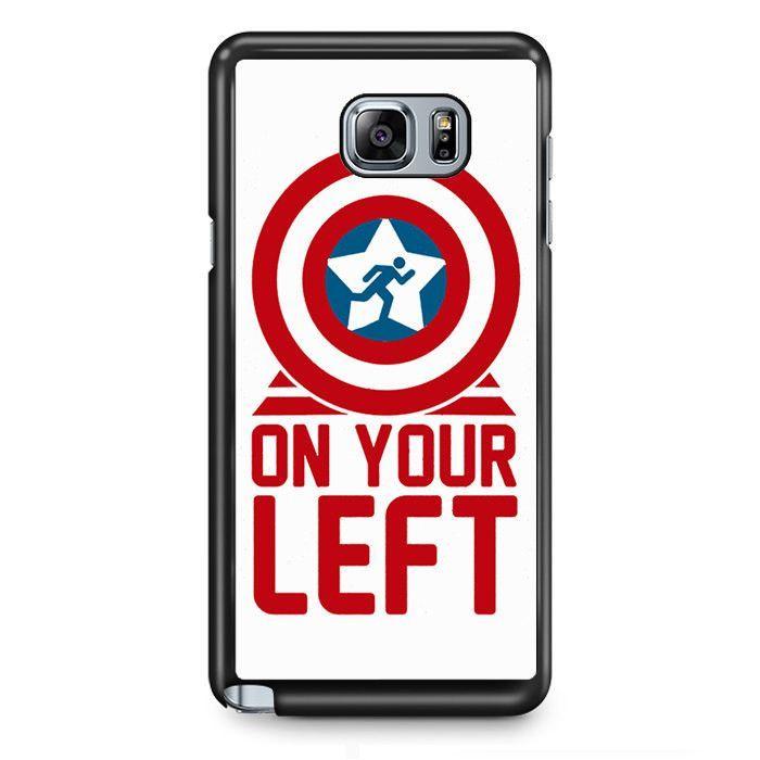 On Your Left Captain America TATUM-8179 Samsung Phonecase Cover Samsung Galaxy Note 2 Note 3 Note 4 Note 5 Note Edge