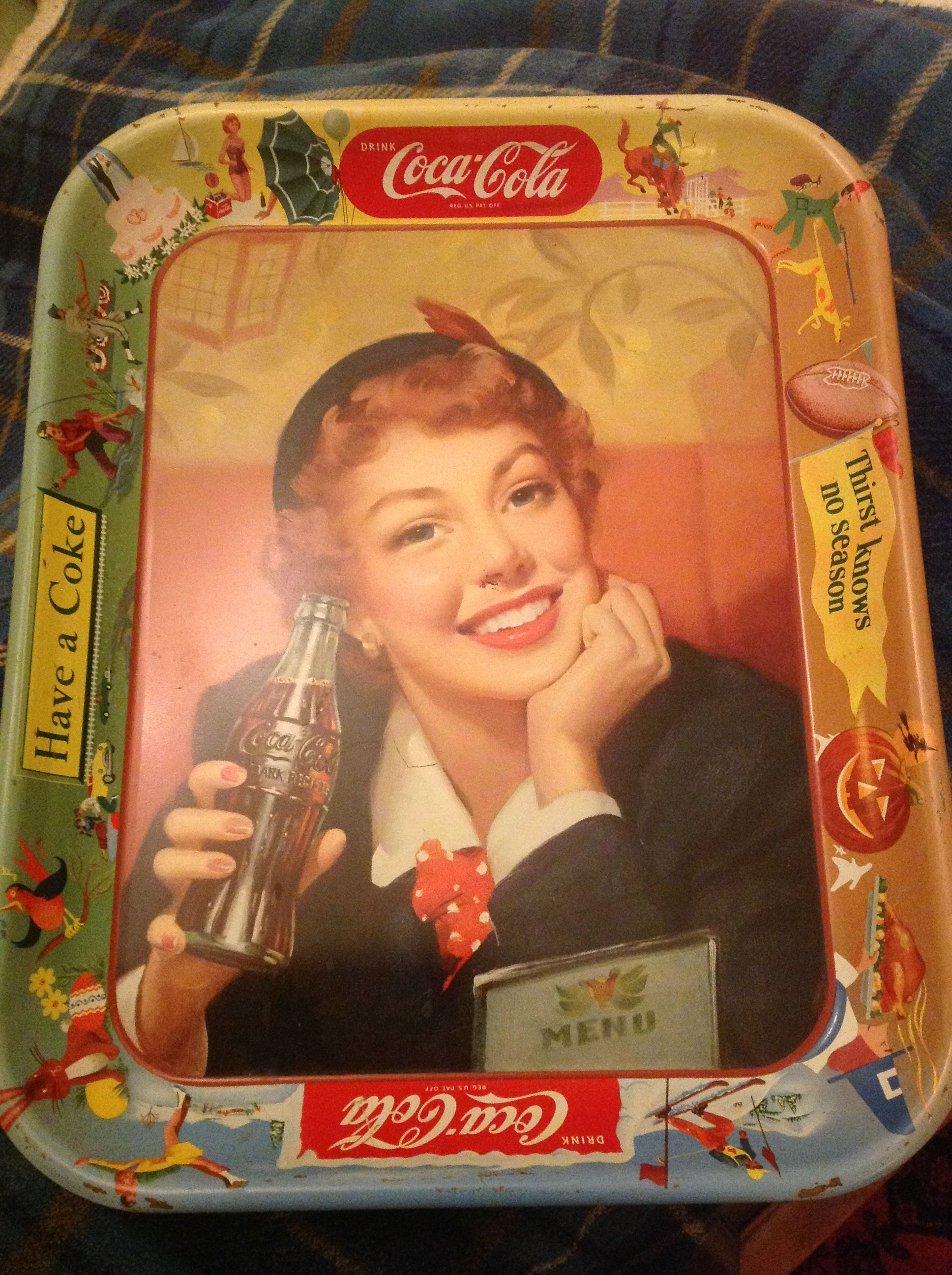 Coca Cola Tray, Original, 13 X 10 In