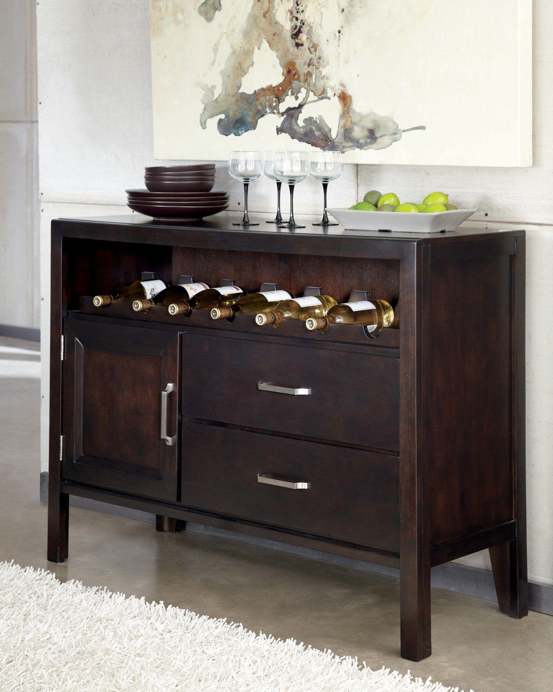 Trishelle Dining Room Server D550 59 Ashley Furniture 555