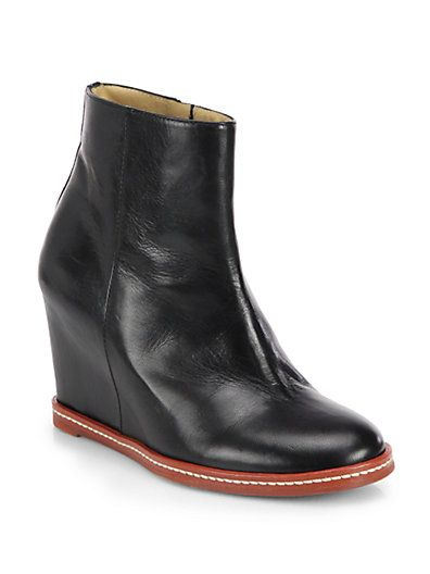 Mm6 Leather Boots Maison Hidden Saks Margiela Wedge Martin Ankle rqqgtw4