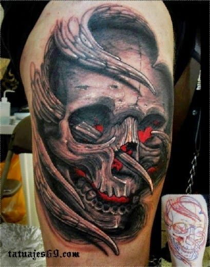Tatuajes De Calaveras Significado E Ideas Red Tattoos Skull