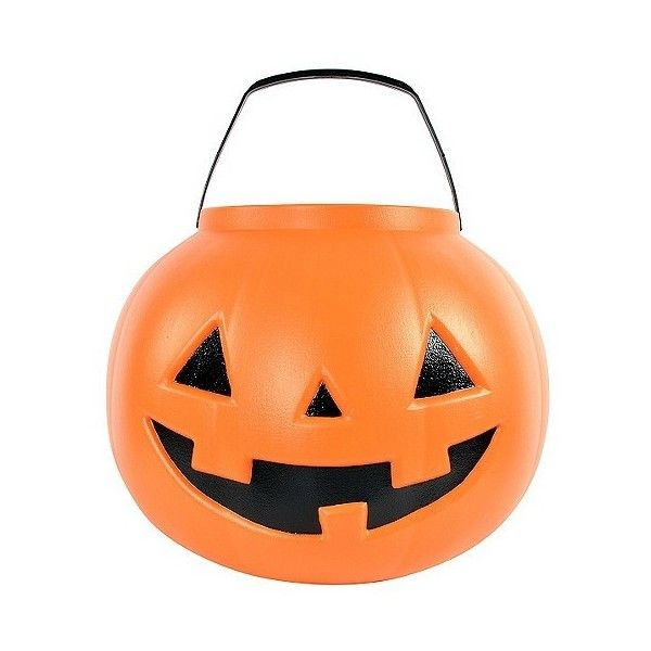 Halloween Giant Pail Orange ($6) ❤ liked on Polyvore featuring home