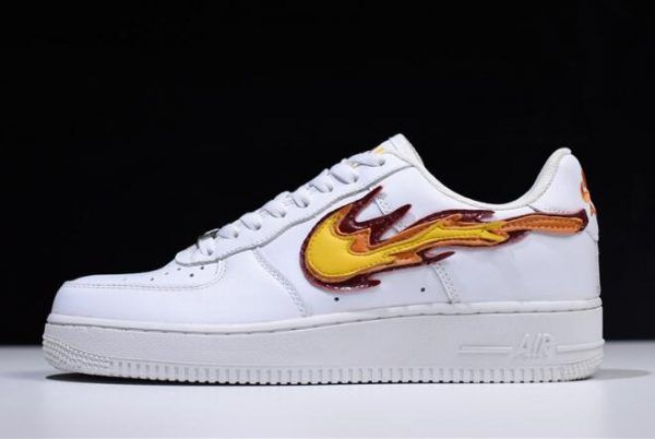 """Nike Air Force 1 Low """"Hot Flame Fire"""" Mens Womens Shoes"""