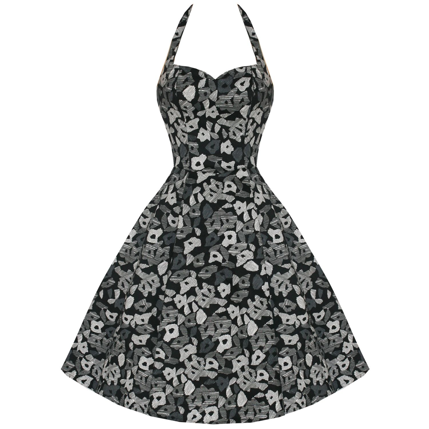 Hearts and roses london geometric s dress rockabilly style