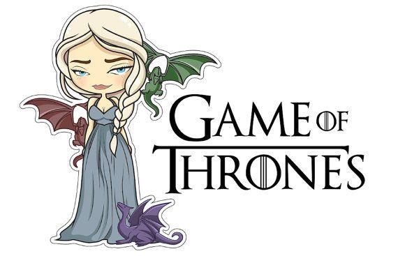 Daenerys Game Of Thrones Sticker Clipart Illustration Vector
