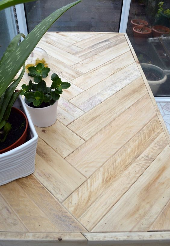 DIY Pallet Table: instructions on how to inexpensively build this ...