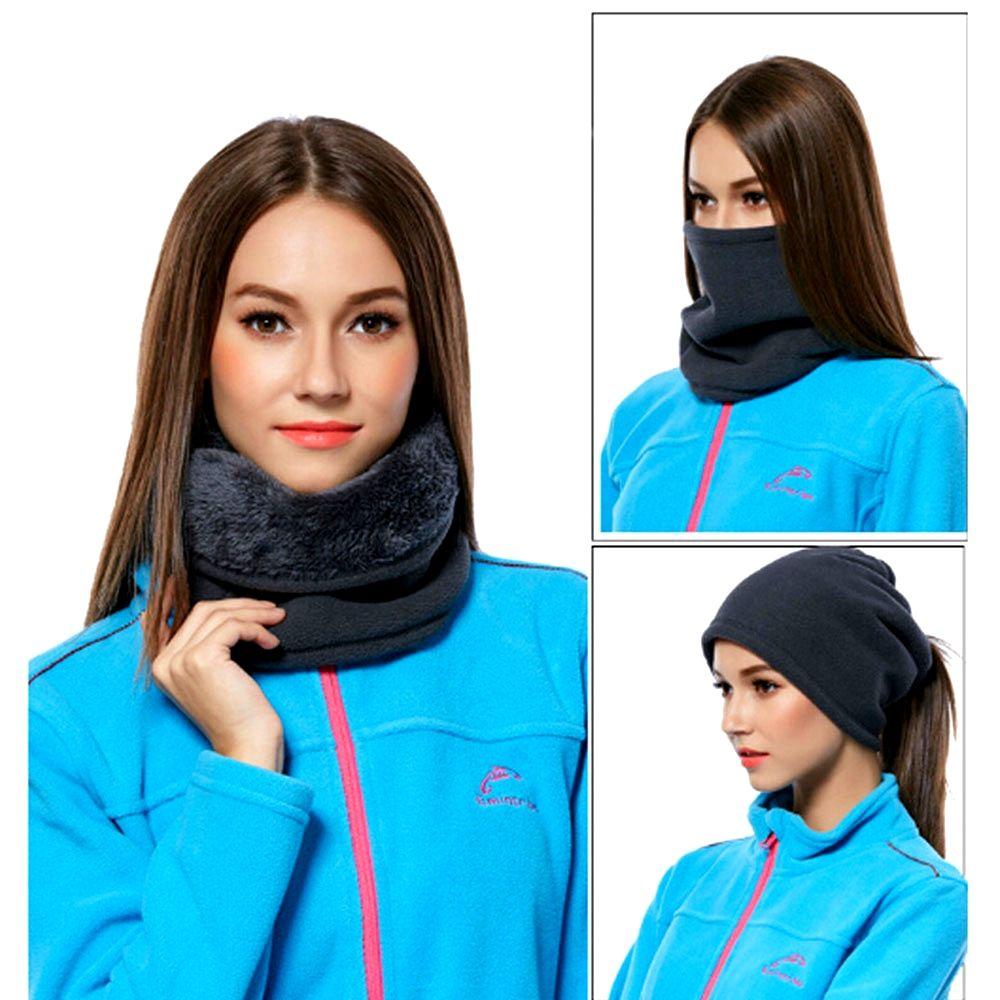 Premium Unisex Neck Warmer Scarves Multi Use Headband Snood Hat Ski Scarf