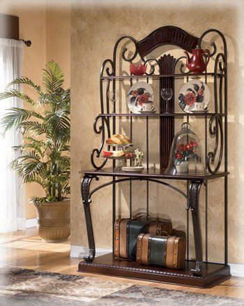 Dark Brown Bakers Rack By Ashley Furniture By Ashley 435 71