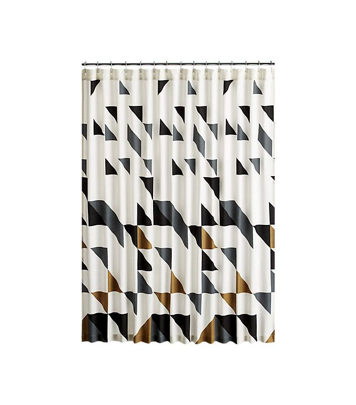 CB2 Triangle Shower Curtain