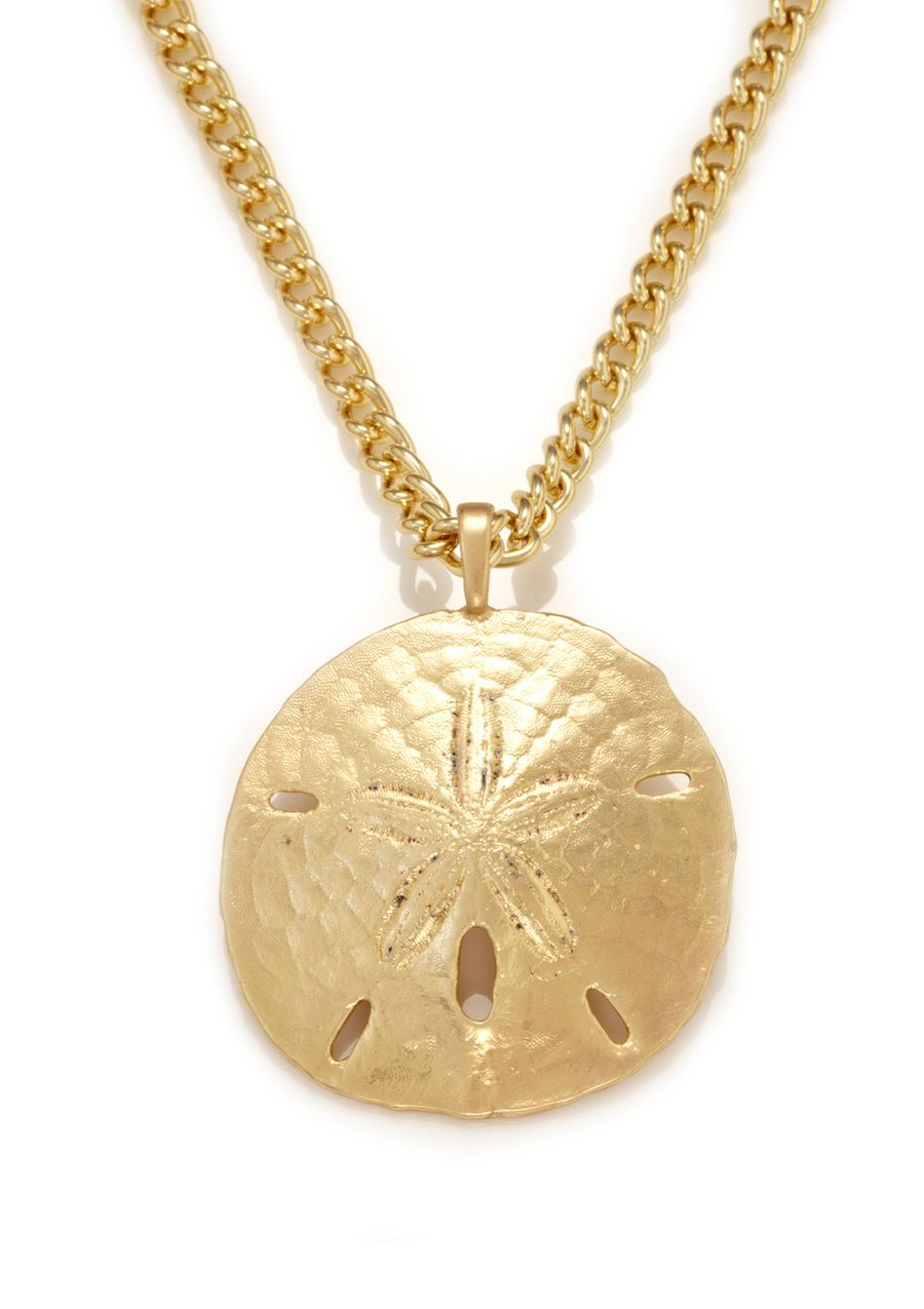 Sand Dollar Love Pearl Necklace