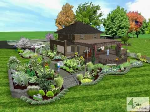 Swansea residence landscape design 3D model.avi ...