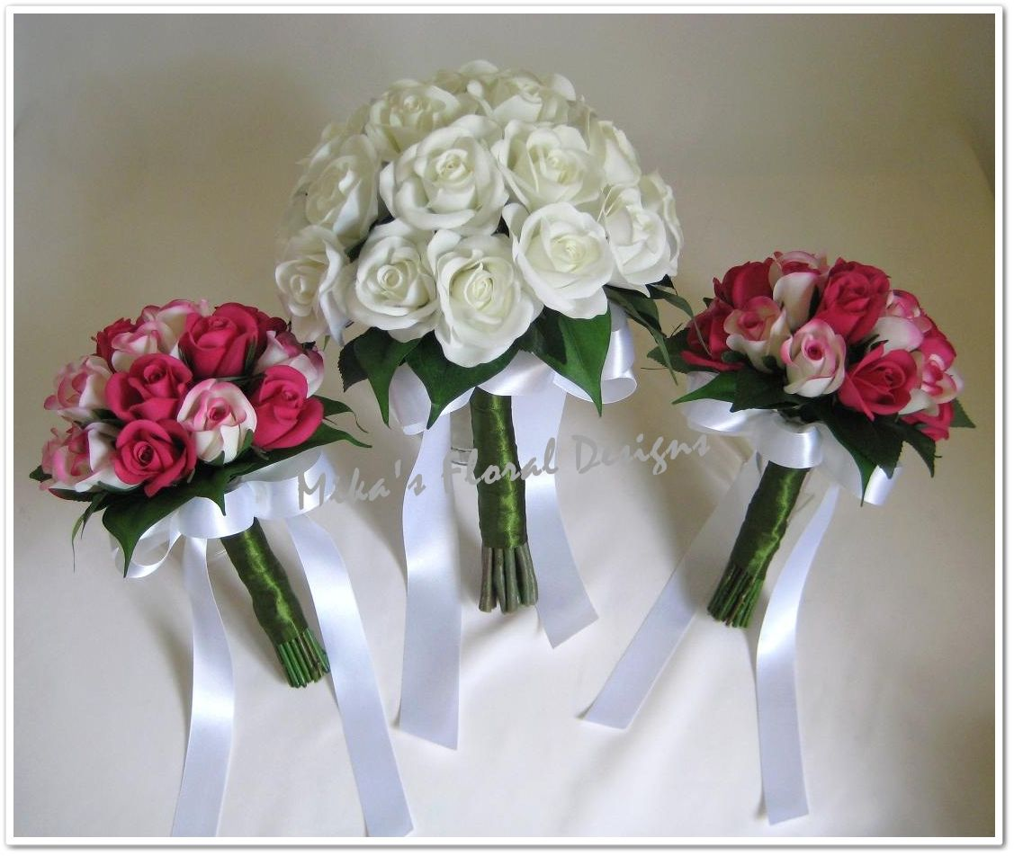 """""""bridesmaids"""" Artificial Wedding Flowers and Bouquets"""