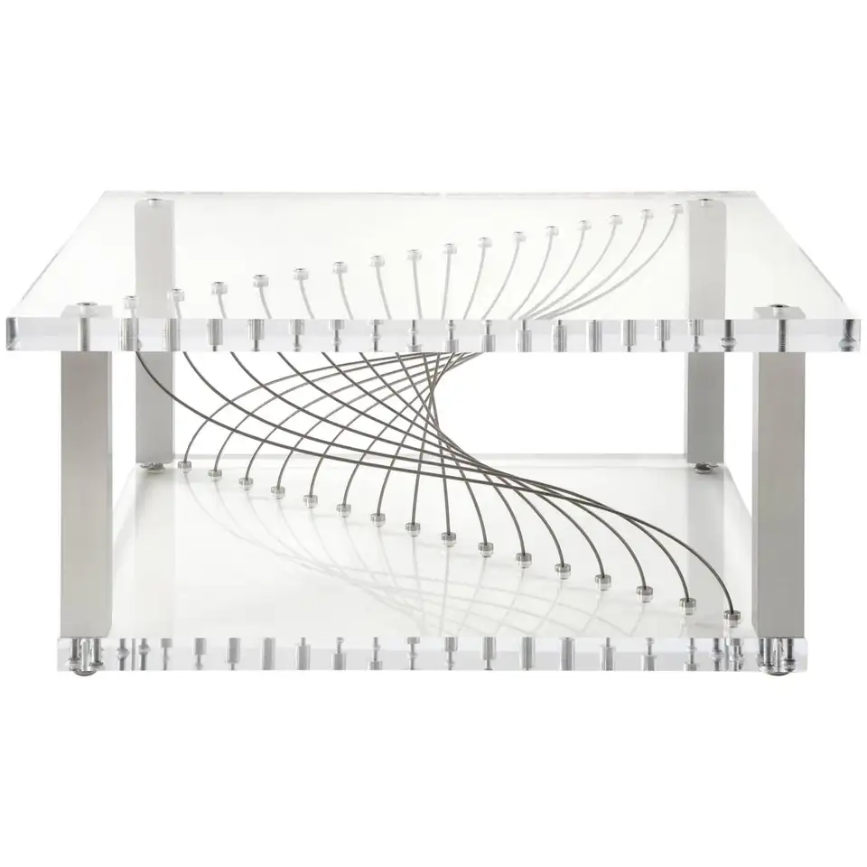 Acrylic Modern Industrial Coffee Table In Plexiglass Metal And Lucite In Stock Modern Industrial Coffee Table Lucite Coffee Tables Industrial Coffee Table [ 960 x 960 Pixel ]