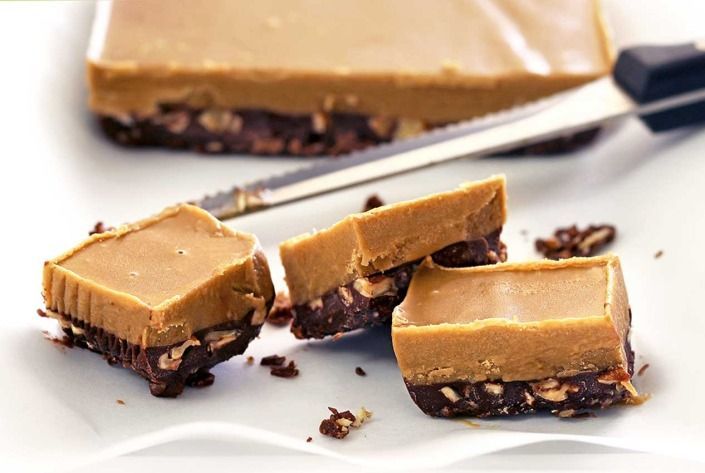 No-Cook Chocolate & Nut Butter Fudge - So yummy!