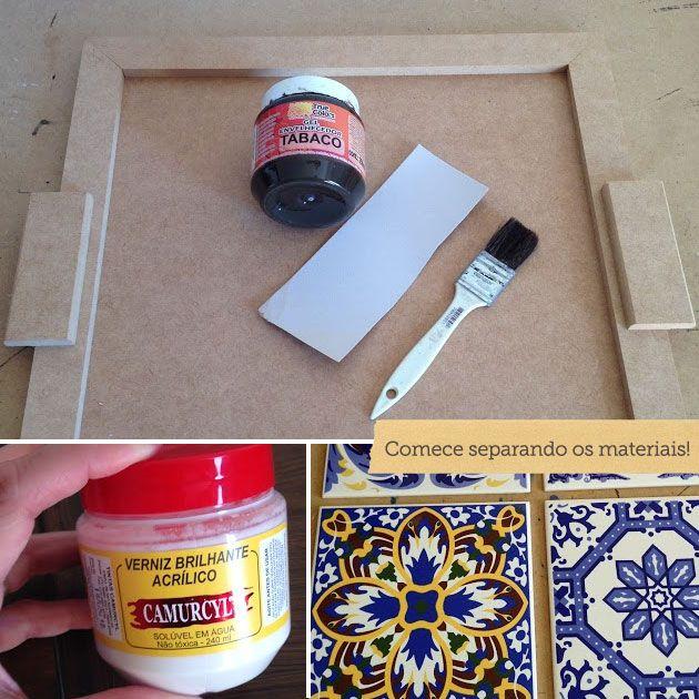 Como aplicar azulejo decora o da mesa madeira - Como aplicar microcemento sobre azulejos ...