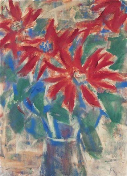 Christian Rohlfs, Rote Blüten