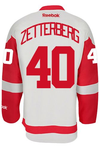 Detroit Red Wings Henrik ZETTERBERG  40  C  Official Away Reebok Premier  Replica NHL 228b1306c