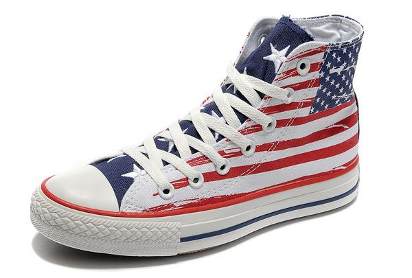 0e446ef9d42598 Red White Blue~Stars Stripes Converse is an American shoe company that has  been making shoes