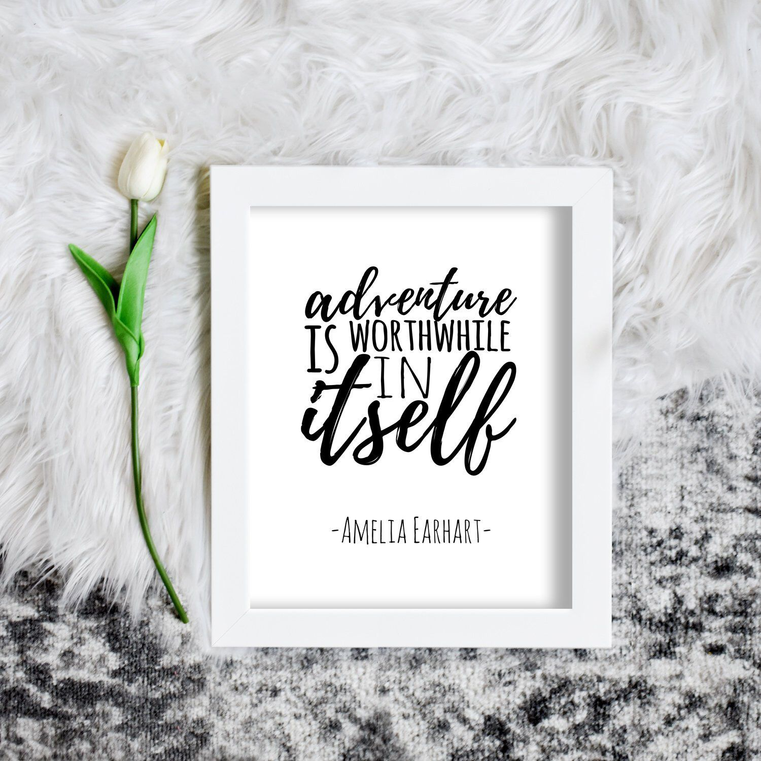 Printable Adventure Quote Amelia Earhart Quote