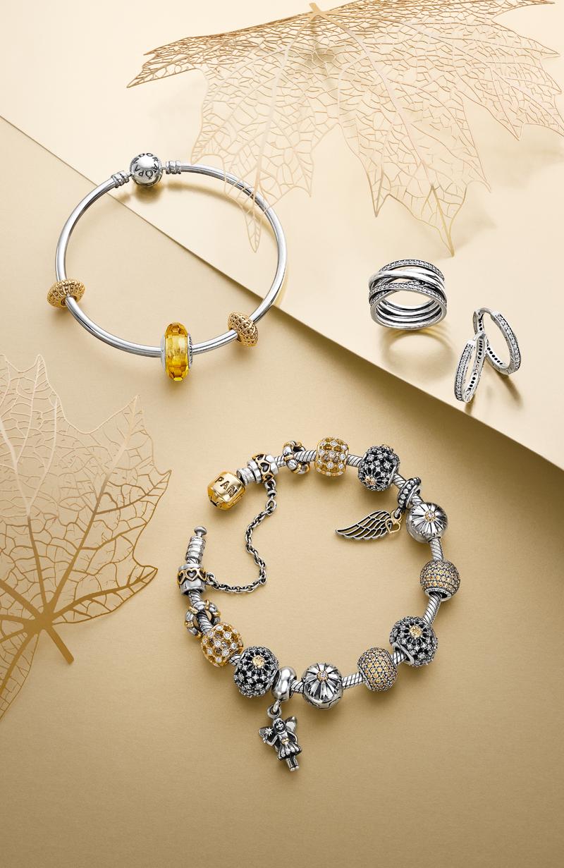 16082be43 Add golden tones to your bracelet for a fashionable and lavish look. # PANDORA #PANDORAbracelet #PANDORAring #PANDORAaw14