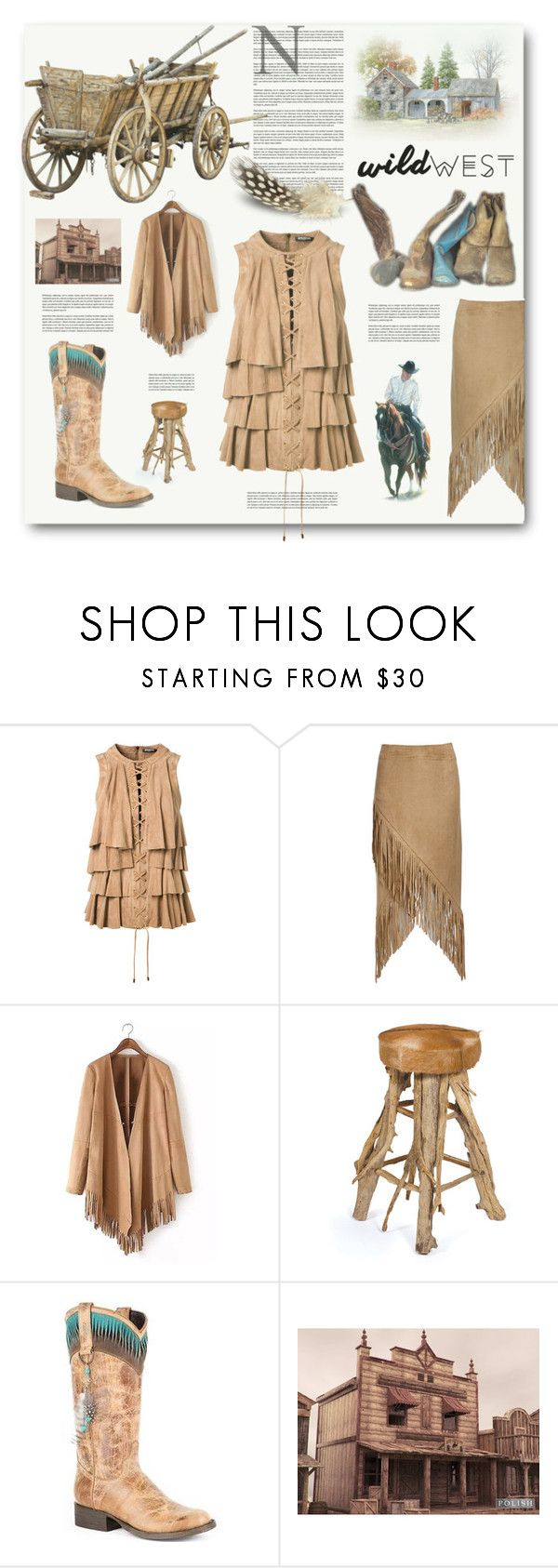 """WILD WEST"" by jana-masarovicova ❤ liked on Polyvore featuring Balmain, Nightwalker, GO Home Ltd., Stetson, fashionset and wildwest"
