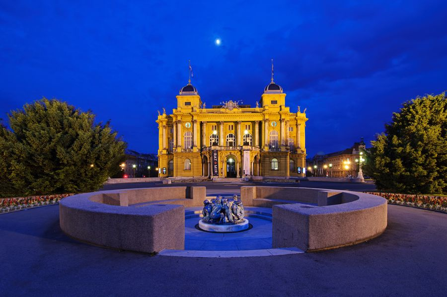 The Well Of Life Zdenac Zivota By Ivan Mestrovic In Front Of The Croatian National Theatre Zagreb Croatia