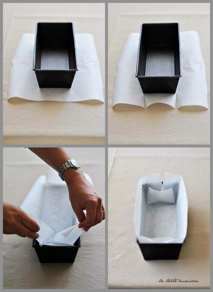 La tarte Maison. Come rivestire uno stampo da plumcake con carta ...