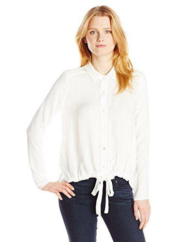 3857f3c5272f6d White Closet · Ella moss Women s Jazmine Crepe Tie Front Blouse