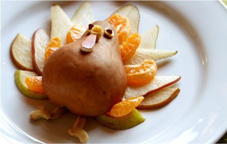 Fruit Turkey Pears Manadarin Oranges Or Clementines