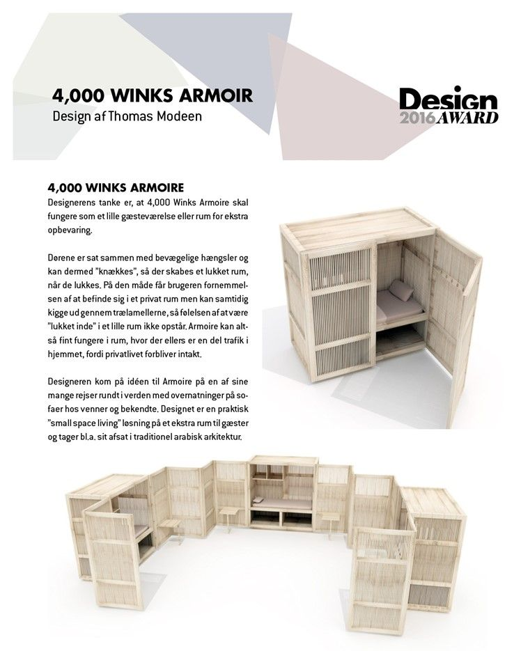 4,000 WINKS ARMOIR Design af Thomas Modeen 4,000 WINKS ARMOIRE D